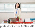 Businesswoman, office worker, meeting, businesswoman, young, business woman, announcement, reporting, casual 46942501