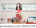 Businesswoman, office worker, meeting, businesswoman, young, business woman, announcement, reporting, casual 46942506
