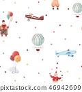 Watercolor circus vector pattern 46942699