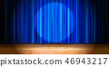 stage, curtain, blue 46943217