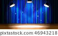 curtain, spotlight, stage 46943218