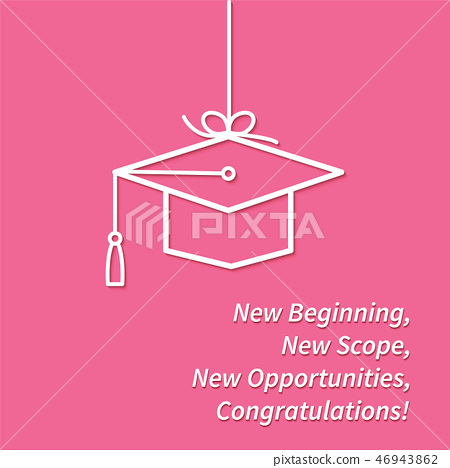 Greeting card with congratulations Graduate completion 46943862