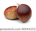 Chestnuts isolated on white background 46944252
