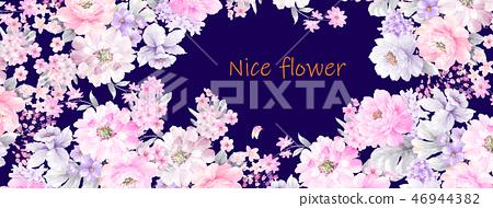 好看的玫瑰花和牡丹花花卉 46944382