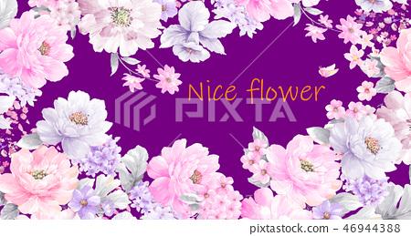 好看的玫瑰花和牡丹花花卉 46944388