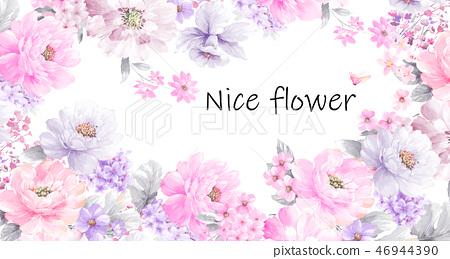 Nice rose and peony flower 46944390