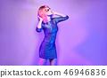 Glamour fashion woman dance. Music Disco vibration 46946836