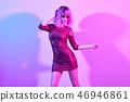 Glamour fashion woman dance. Music Disco vibration 46946861