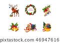 christmas, wreath, bell 46947616