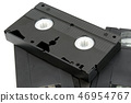 Vhs video cassette on a white background 46954767