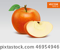 红色 红 苹果 46954946