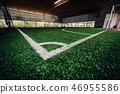 Corner Line of an indoor football training field 46955586