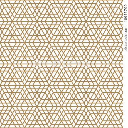 Seamless arabic geometric ornament in brown color. 46955700