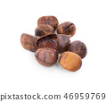 Chestnuts isolated on white background 46959769