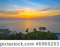 aerial view sunset at Laem Promthep Cape viewpoint 46969203