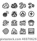 coal icon set 46970626