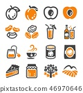 apricot, icon, vector 46970646