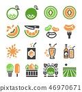 melon,cantaloupe icon set 46970671