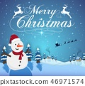 Vector illustration of Merry christmas typography  46971574