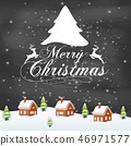 Vector illustration of Merry christmas typography  46971577