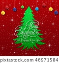 Christmas tree  with red background 46971584