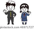 初中和高中男孩和女孩(校运和水手服) 46971727