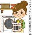 세탁을하는 주부 46972121