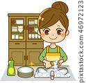做盤子+碗櫃的主婦 46972123