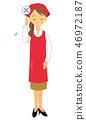 바투 꼬리표를 가진 여자 계산대 점원 46972187