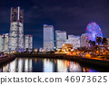 """""""神奈川县""""横滨港未来·整栋建筑照亮夜景""""2018"""" 46973625"""