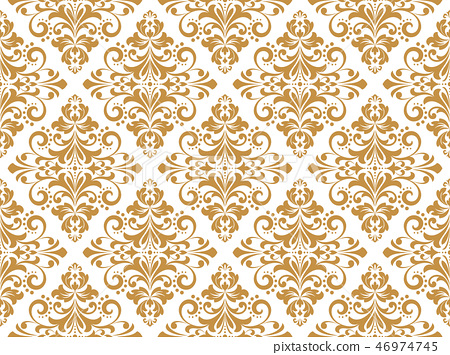 Wallpaper in the style of Baroque. Seamless vector 46974745