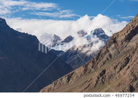Mountains ridge landscape with blue sky 46977254