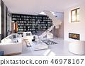 modern living interior. 46978167
