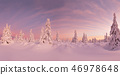 Beautiful winter landscape, trees covered with snow. 46978648