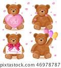 bear, teddy, valentine 46978787