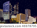 Business center at night Vector. La Defense 46978795