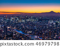 """""""日本的最佳景觀""""東京的夜景 - 富士山的景色""""從天空樹觀景台"""" 46979798"""