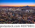 """""""日本的最佳景觀""""東京的夜景 - 富士山的景色""""從天空樹觀景台"""" 46979801"""