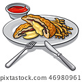escalope with fries 46980961