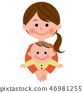 Mother holding a baby Bust up 46981255