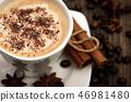 Coffee closeup. With cinnamon sticks, coffee beans and star anise 46981480