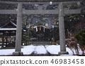 Snowing shrine 46983458