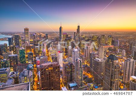 Chicago, Illinois, USA Skyline 46984707