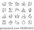 Spicy line icon set 46985605