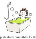 放松在浴的妇女 46991538