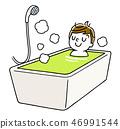 放松在浴的男孩 46991544