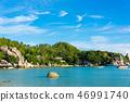 Tropical white sand paradise sea beach 46991740