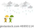 雨衣 儿童 孩子 46993114