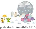 雨衣 儿童 孩子 46993115