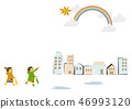 雨衣 儿童 孩子 46993120